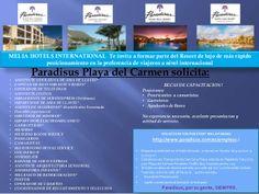 Vacantes en Riviera Maya Paradisus Playa del Carmen