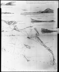 U.S. Coast Survey map showing the western coast of the United States from San Diego to Santa Barbara, 1864 :: California Historical Society Collection, 1860-1960