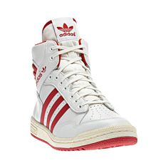 White Originals Hi Top Red Conference G95976 Laced Trainers