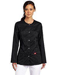 bdb88442b53 Gen Flex Women's Crew Neck Solid Scrub Jacket Scrub Jackets, Top Stitching,  Pockets,