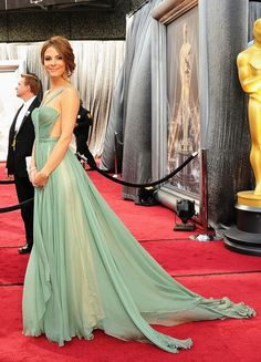 Maria Menounos - Maria Lucia Hohan Dress - Oscars 2012. She looks lovely- I <3 the color.