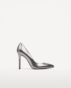 METALLIC HIGH HEEL LEATHER SHOES - Available in more colours