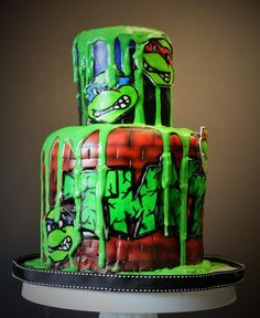 - TMNT cake
