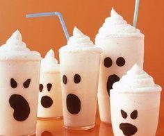 Postres para Halloween – Helados fantasmales