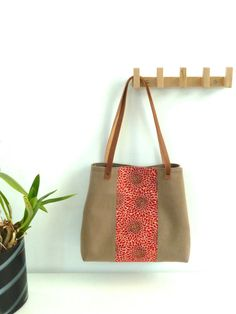 Tote Bag Kyoto Red  Made to order by marabaradesign on Etsy