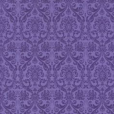 Purple Damask Fabric, Tapestry, Chong-a Hwang, Timeless Treasures (By Half Yard)