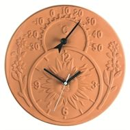 Looking for the perfect terracotta sun decor for your garden or home? Terracotta (in Italian meaning Baked Earth) is clay-based unglazed ceramic.Clay terra cotta has been used throughout history for sculpture and. Garden Clocks, Outdoor Clock, Travel Alarm Clock, Wall Clock Design, Rustic Wall Clocks, Rustic Bedding, Rustic Outdoor, Rustic Invitations, Rustic Design