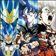 Goku, Gohan and Vegeta