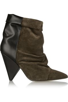 Isabel Marant   Andrew suede and leather ankle boots   NET-A-PORTER.COM