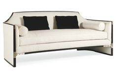 """Luisa 76"""" Sofa, Black.     This is the type of seating that should be viewed from  all angles."""