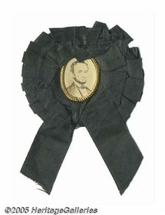 Exceptional 1865 Abraham Lincoln Mourning Badge I Abraham Lincoln Family, Lincoln Life, Lincoln Assassination, The Todd, The Rite, Lincoln Memorial, Us Presidents, American Civil War, America