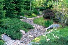 Inspiration for path to backyard incorporating native pool {Dry Stream Bed - Japanese Garden}