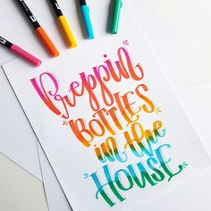 My lettering done with Tombow dual brush pens.