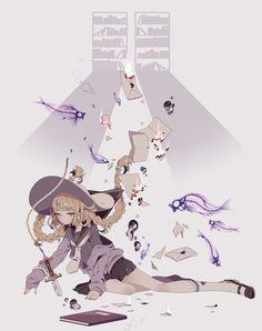 しきみ Detailed Drawings, Cute Drawings, Pixiv Fantasia, Anime Artwork, Anime Art Girl, Kawaii Anime, Cute Art, Alice In Wonderland, Art Reference