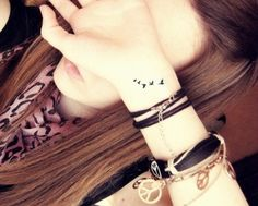 black ink bird tattoo on wrist | Small Birds Tattoo on Wrist