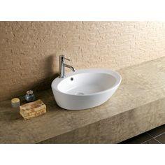 60cm Waschbecken Waschtisch Aufsatzwaschbecken Handwaschbecken Aufsatzbecken oval mit Überlauf AWK-1058A