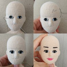 Though not an English tutorial, this written pattern will be helpful when I want to create a shapely face. The numbers – BuzzTMZ – BuzzTMZ Crochet Teddy, Crochet Patterns Amigurumi, Amigurumi Doll, Plush Dolls, Crochet Dolls, Crochet Baby, Free Crochet, Knit Crochet, Stick Art