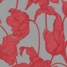 Graham & Brown Laurence Llewelyn-Bowen Harem Tulips Coral Wallpaper. #laylagrayce #new #wallpaper