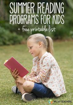 A list of the best free kids summer reading programs for every grade! These programs challenge and reward kids for reading. Reading Club, Reading Fluency, Teaching Reading, Kids Reading, Teaching Tools, Reading Programs For Kids, Summer Reading Program, Summer Activities For Kids, Summer Kids