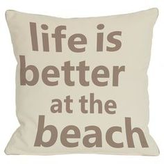 """Add a beach-chic touch to your favorite nook or arm chair with this plush indoor/outdoor pillow.  Product: PillowConstruction Material: 100% Premium polyester cover and 100% premium polyester down alternative fillColor: Ivory and tanFeatures:  Insert includedSuitable for indoor and outdoor useMade in the USA Sewn closureDimensions: 18"""" x 18""""Cleaning and Care: Cover is machine washable"""