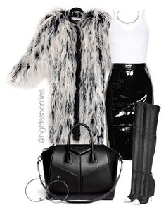 """Furry"" by highfashionfiles ❤ liked on Polyvore featuring Yves Saint Laurent, Yummie by Heather Thomson, Givenchy and Chanel"