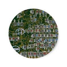 Resistors on a Circuit Board Round Stickers