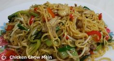 Chicken Chow Mein, Bean Sprouts, Meat Chickens, Noodle Recipes, Chow Chow, Noodles, Ethnic Recipes, Food, Macaroni
