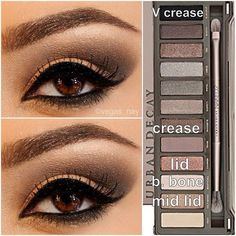 Eyeshadow look with Naked 2 Palette