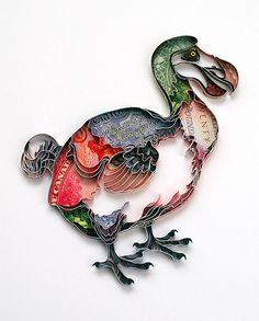 Quilled Dodo by Natasha Molatkova