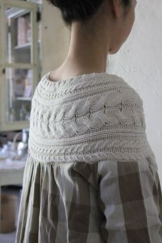 Interesting idea to upcycle an old sweater and a men's button up shirt.
