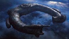 Creepy Alien space ship aesthetics from movie Prometheus.