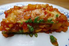 Gevulde cannelloni met spinazie en groentensaus