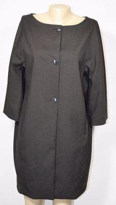 LIZ CLAIBORNE Long Black Jacket Blazer 12 3/4 Sleeves Lined Career Style #LizClaiborne #Blazer