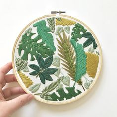 Welcome to the Jungle Embroidery Pattern. Jungle Leaves   Etsy
