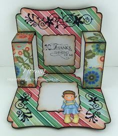 A Thank You Side Step Card (card inside) by Norma25 - Cards and Paper Crafts at Splitcoaststampers