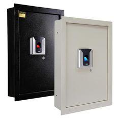 $159.9 100pc Fingerprint Wall Hidden Safe Biometric Lock Security Box Cash Jewelry Gun +FS at Ebay