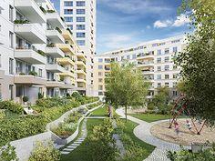 Kleiner #Garten für fast alle ebenerdigen Wohnungen. #Wohnen #Berlin Zum Projekt: http://ziegert-immobilien.de/de/projekte/High-West/