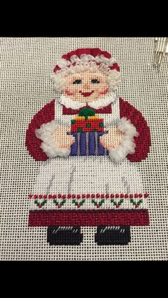 Mrs Claus getting reading for Christmas! Christmas Mix, Mrs Claus, Needlepoint, Reading, Holiday Decor, Home Decor, Homemade Home Decor, Word Reading, The Reader