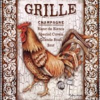 Rooster Grille by Sydney Wright art print Rooster Art, Rooster Decor, Hen Chicken, Chicken Art, Collages D'images, Chicken Illustration, Chicken Painting, Images Vintage, Chickens And Roosters