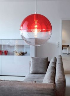 Koziol orion red lamp. Round lamp in retro style. € 59.95