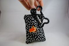 Dog Poop Bag Holder for Leash by TheEmPURRium on Etsy