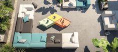 Modułowa sofa Miami świetnie prezentuje się ze stolikiem kawowym Karo firmy Conmoto. Dzięki modułowej formie mebli firmy Conmoto, możemy dopasować meble ogrodowe do indywidualnych potrzeb. Sofa Miami została wykonana z wytrzymałego materiału sunbrella. #taras #design #conmoto #miami #karo #stolik #sofa #sofy #ogród