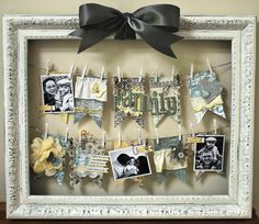"Altered ""Family"" Frame using Mistables - Scrapbook.com - Super Cute! #scrapbooking #diy #crafting #pinkpaislee"