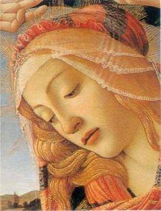 Sandro Botticelli - Renaissance - The Madonna of the Magnificat (detail), Portrait Renaissance, Renaissance Paintings, Renaissance Art, Italian Renaissance, Italian Painters, Italian Artist, Giorgio Vasari, Madonna, Religious Art