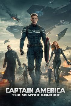 Captain America: The Winter Soldier April 2014 with Chris Evans, Frank Grillo, Sebastian Stan. Steve Rogers struggles to embrace his role in the modern world and battles a new threat from old history: the Soviet agent known as the Winter Soldier. Captain America 2, Steve Rogers, The Avengers, Science Fiction, Winter Soldier Movie, Iron Man, Films Marvel, Mcu Marvel, Captain Marvel