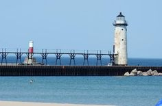North and South Pierhead Lights - Manistee, Michigan