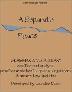 essay questions on a separate peace Discussion topics and inventive activities key concepts are highlighted in brief yet informative sidebar essays, giving you the background information you need to explore complex issues in the novel an a separate peace study guide the teacher's companion includes an easy-to-use yet comprehensive study guide.