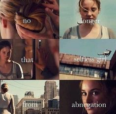 Divergent Challenge Day 3, First Thought of Tris: I thought Tris was a girl that was trying to live up to the expectations of others in abnegation, until she let her blood drip over dauntless coals.