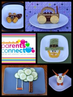 Creative snack layouts....might even help the picky eaters!