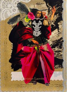 Christian Lacroix Les Anges Baroques Notebook, x Inches, 128 Ruled Pages Christian Lacroix, Mixed Media Collage, Collage Art, Art Collages, Digital Collage, Sketchbook Inspiration, Art Sketchbook, Hippie Trippy, Collage Illustration